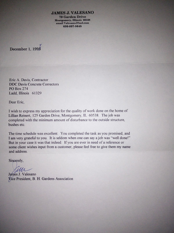 Davis Letter of Recommendation